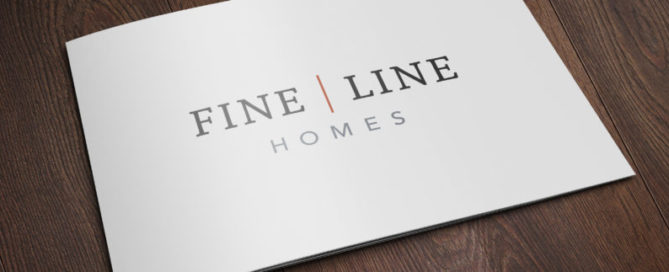 Fine Line Homes Printed on a card