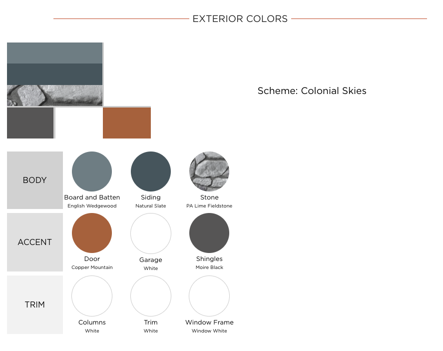 Exterior Colors Summary